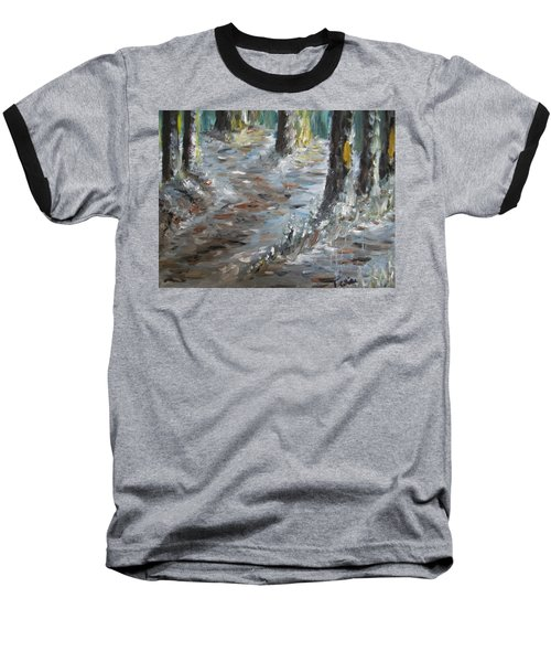 Baseball T-Shirt featuring the painting Touch Of Christmas by Teresa White