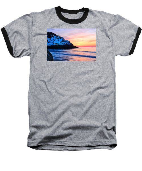 Touch Of Snow Singing Beach Baseball T-Shirt by Michael Hubley