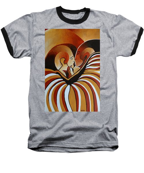 Baseball T-Shirt featuring the painting Touched By Africa I by Tracey Harrington-Simpson