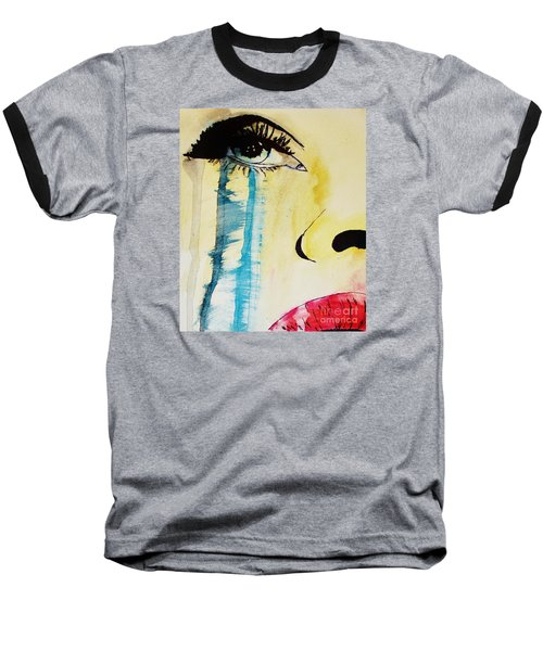 Baseball T-Shirt featuring the painting Tougher Than You Think 2 by Michael Cross