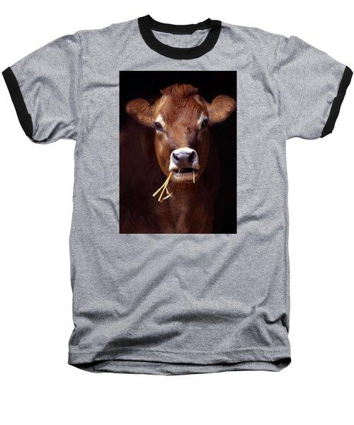 Toupee Baseball T-Shirt by Skip Willits
