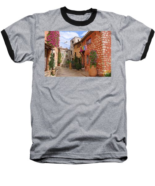 Baseball T-Shirt featuring the painting Tourettes Sur Loup France by Tim Gilliland