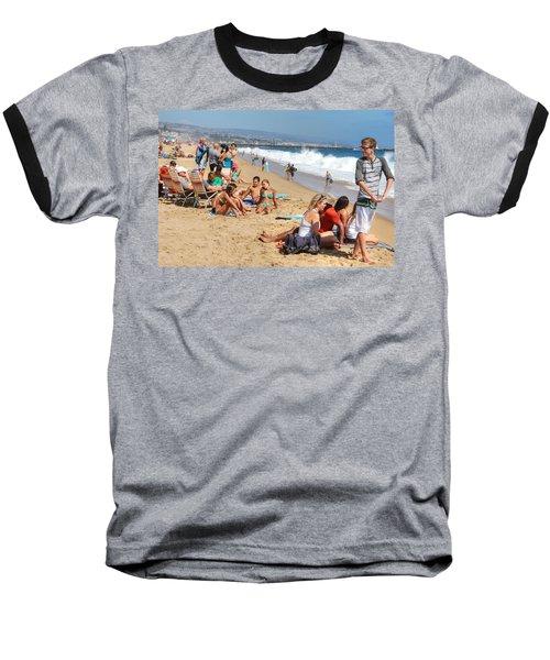 Tourist At Beach Baseball T-Shirt