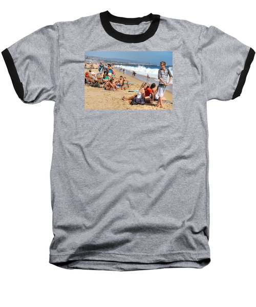 Tourist At Beach Baseball T-Shirt