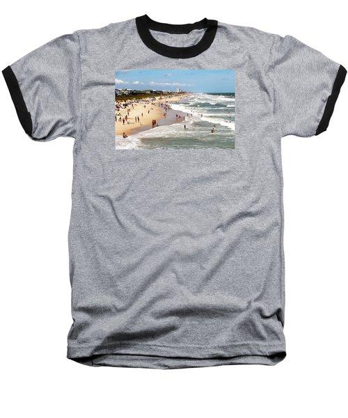 Tourist At Kure Beach Baseball T-Shirt by Cynthia Guinn