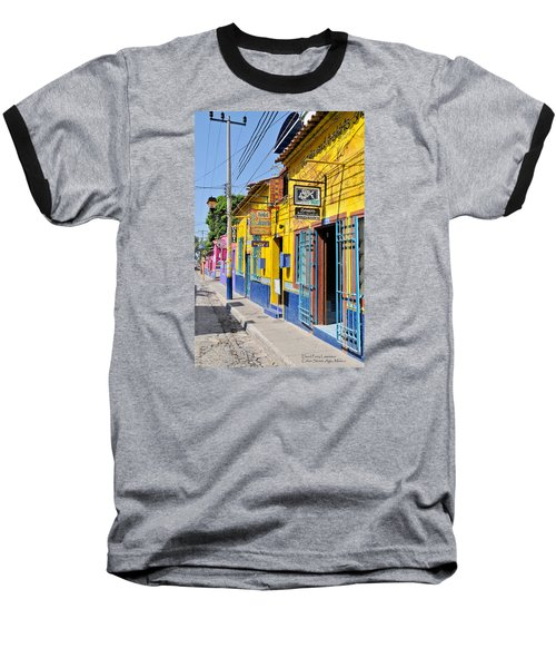 Baseball T-Shirt featuring the photograph Tourist Shops - Mexico by David Perry Lawrence