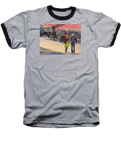 Tourists Baseball T-Shirt by Connie Schaertl