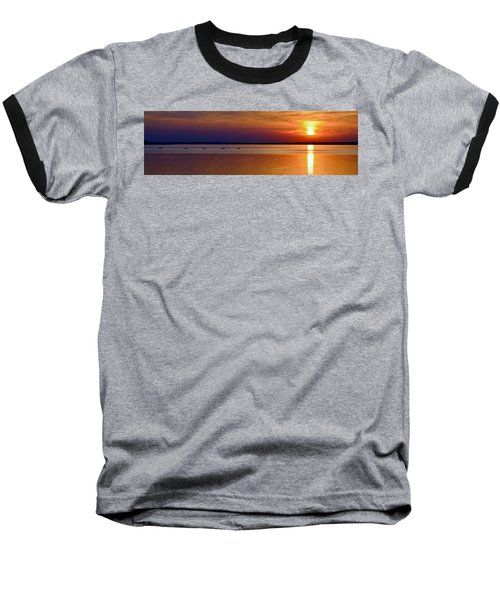 Tours End - Kayak Sunset Photo Baseball T-Shirt