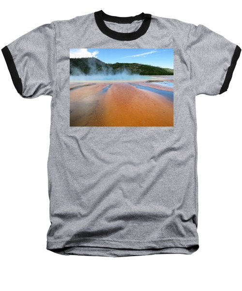 Baseball T-Shirt featuring the photograph Toward The Blue Stream by Laurel Powell
