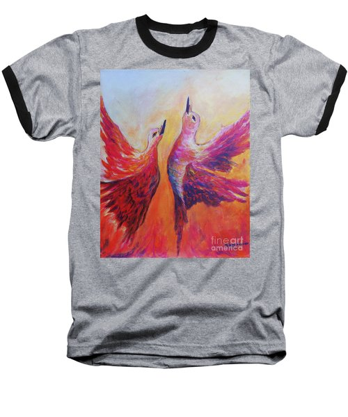 Baseball T-Shirt featuring the painting Towards Heaven by Sher Nasser