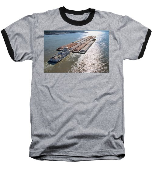 Towboats And Barges On The Mississippi Baseball T-Shirt