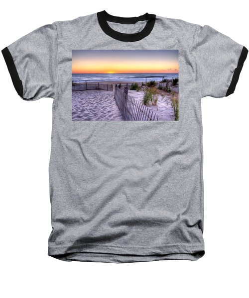 Tower Beach Sunrise Baseball T-Shirt