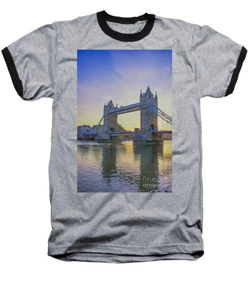 Tower Bridge Sunrise Baseball T-Shirt