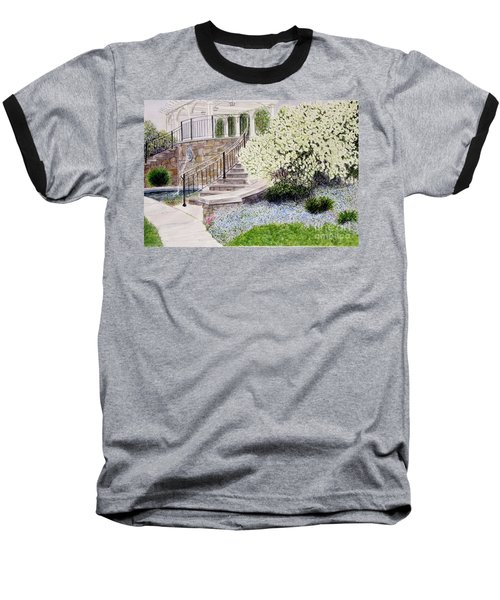 Baseball T-Shirt featuring the painting Tower Hill Blues by Carol Flagg