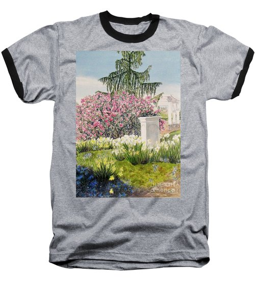 Baseball T-Shirt featuring the painting Tower Hill Center by Carol Flagg