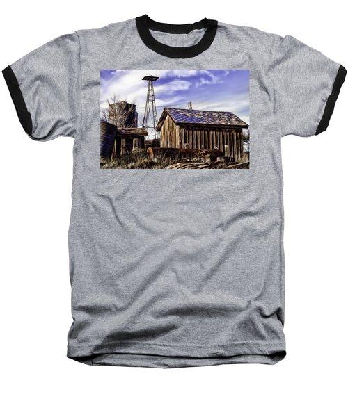 Baseball T-Shirt featuring the painting Tower by Muhie Kanawati