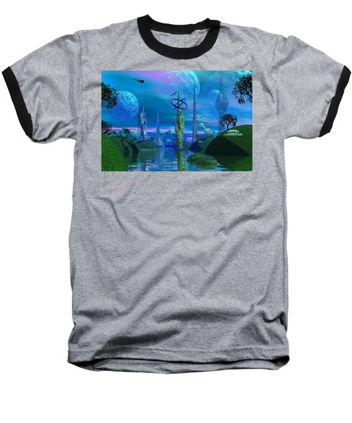 Tower Of Hurn Baseball T-Shirt by Mark Blauhoefer