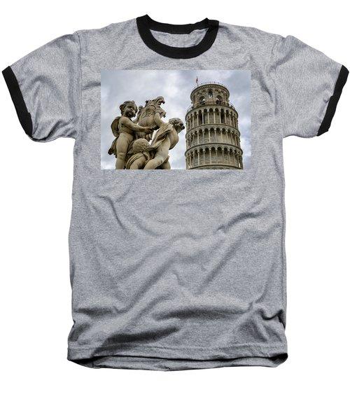 Tower Of Pisa Baseball T-Shirt
