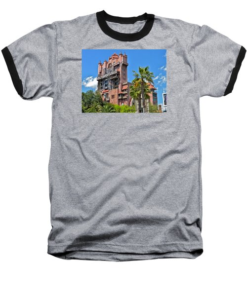 Tower Of Terror Baseball T-Shirt by Thomas Woolworth