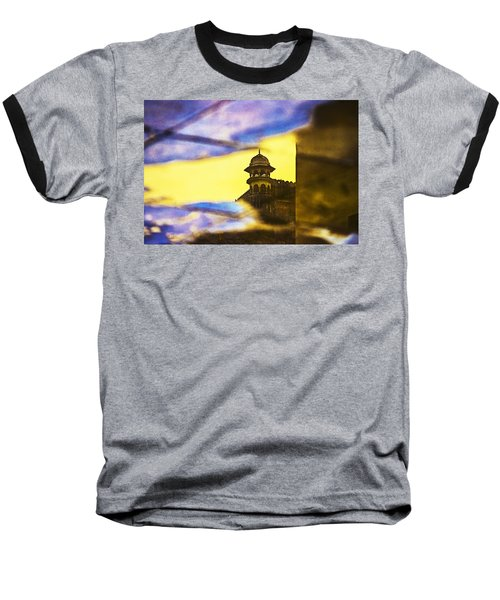 Tower Reflection Baseball T-Shirt