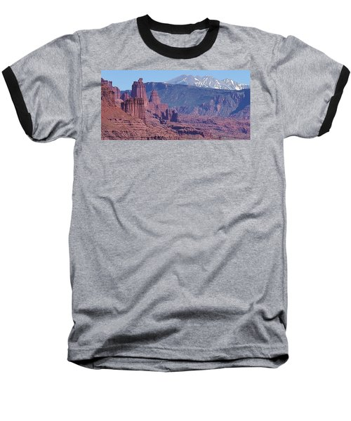 Baseball T-Shirt featuring the photograph Towering Rockformations by Bruce Bley