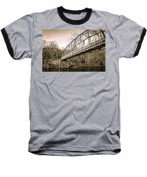 Town Bridge Collinsville Connecticut Baseball T-Shirt by Brian Caldwell