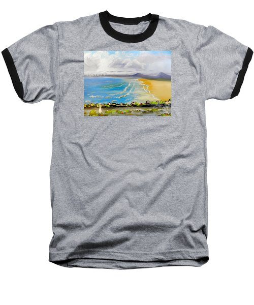 Towradgi Beach Baseball T-Shirt by Pamela  Meredith