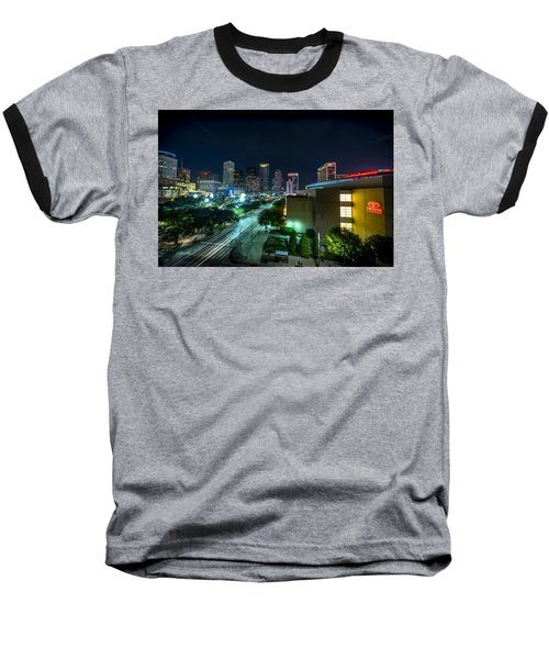 Toyota Center And Downtown Houston Baseball T-Shirt