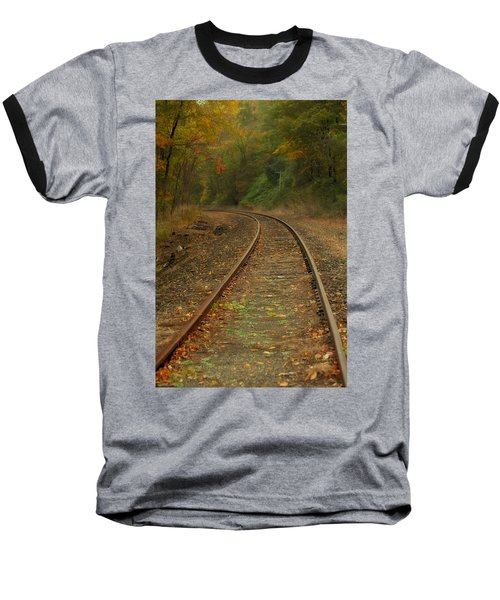 Tracking Thru The Woods Baseball T-Shirt by Karol Livote