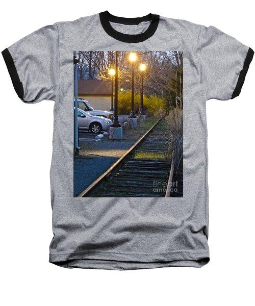 Tracks At Dusk Baseball T-Shirt