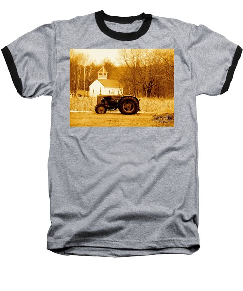 Tractor In The Field Baseball T-Shirt