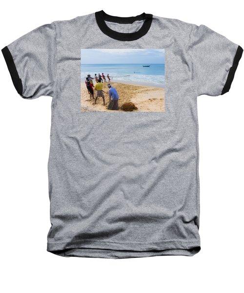 Hoisting The Nets Baseball T-Shirt