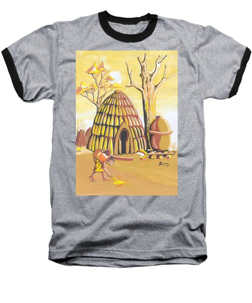 Traditional House Massa Northern Cameroon Baseball T-Shirt by Emmanuel Baliyanga