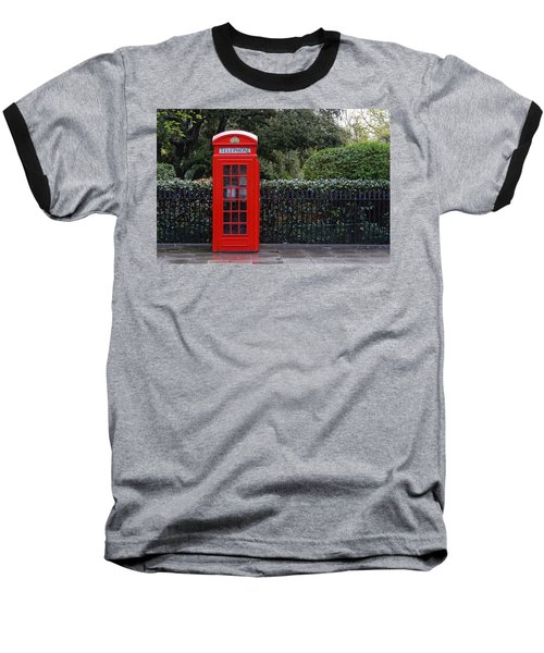 Traditional Red Telephone Box In London Baseball T-Shirt
