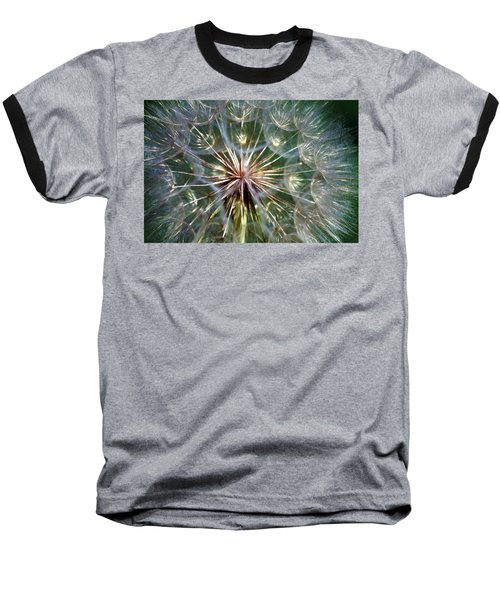 Baseball T-Shirt featuring the photograph Tragopogon Dubius Yellow Salsify Flower Fruit Seed by Karon Melillo DeVega