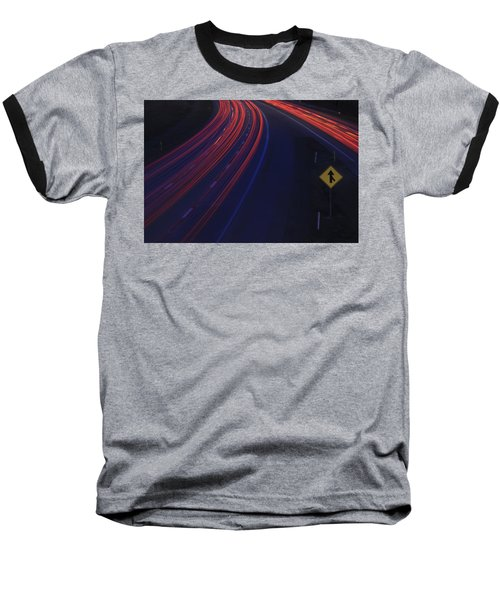 Trail Blazing Baseball T-Shirt by Shelley Neff