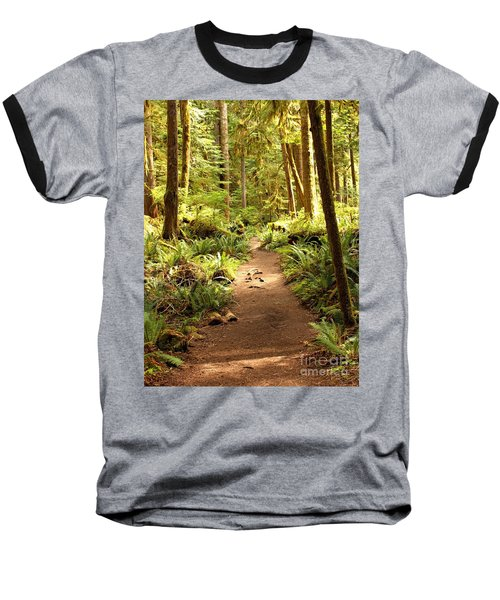 Trail Through The Rainforest Baseball T-Shirt