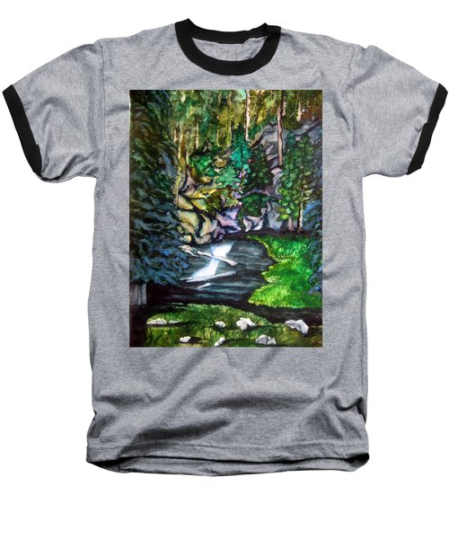 Baseball T-Shirt featuring the painting Trail To Broke-off by Lil Taylor