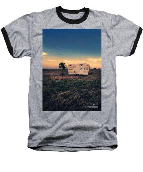 Trailer At Dusk Baseball T-Shirt