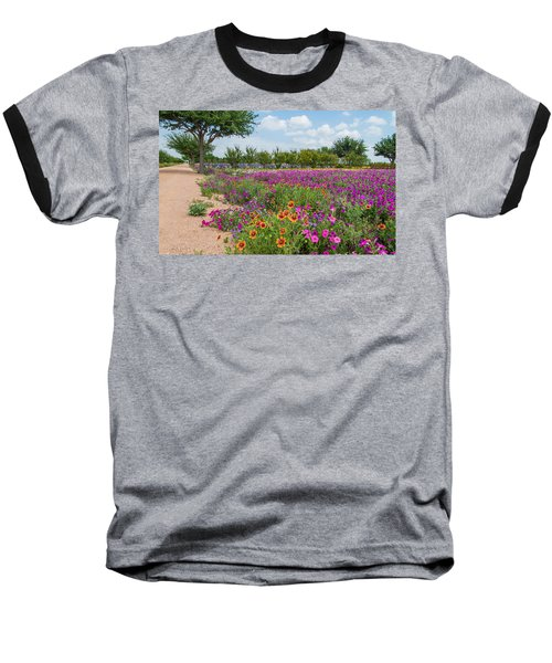 Trailing Beauty Baseball T-Shirt by Lynn Bauer