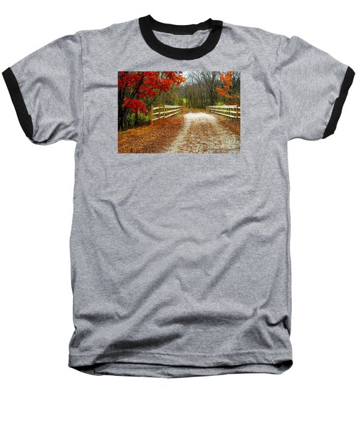 Trailing In Autumn Baseball T-Shirt