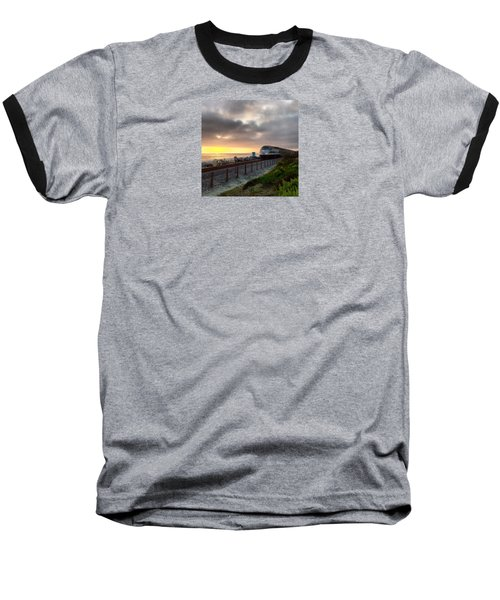 Train And Sunset In San Clemente Baseball T-Shirt