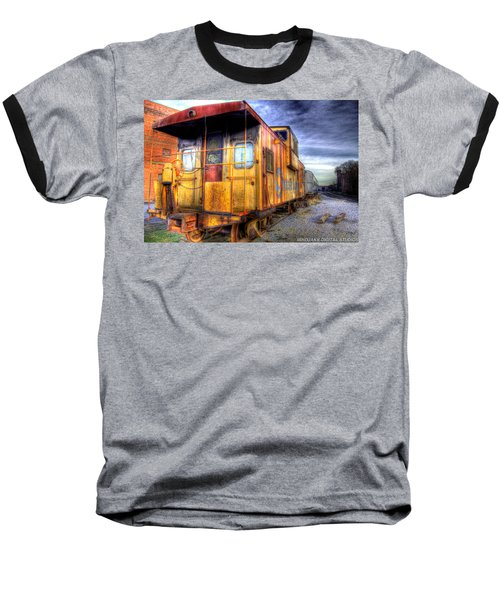 Train Caboose Baseball T-Shirt