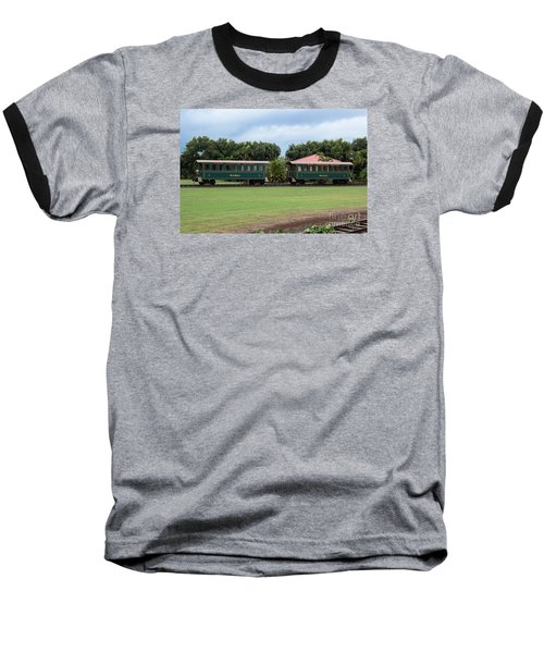 Baseball T-Shirt featuring the photograph Train Lovers by Suzanne Luft