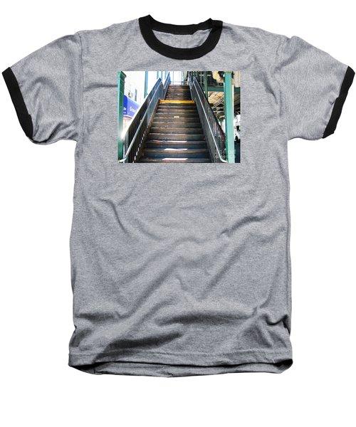 Train Staircase Baseball T-Shirt