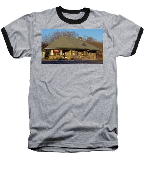 Train Stations And Libraries Baseball T-Shirt by Skip Willits