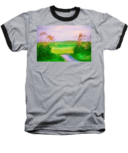Tralee Ireland Water Color Effect Baseball T-Shirt by Tom Prendergast