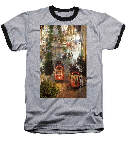 Trams In Beyoglu Baseball T-Shirt