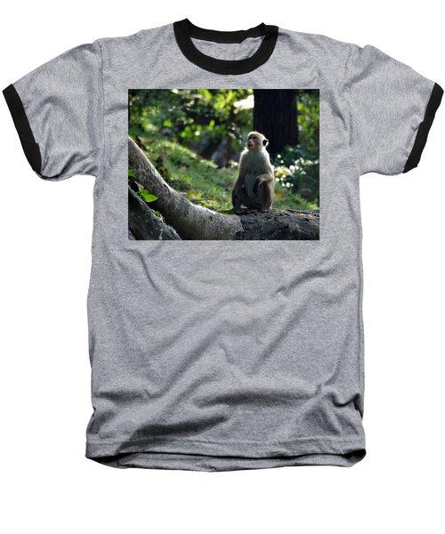 Waiting Baseball T-Shirt by Debi Demetrion