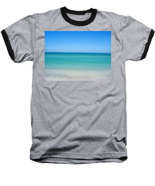 Baseball T-Shirt featuring the photograph Tranquil Gulf Pond by David Nicholls